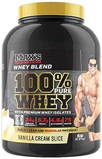 Max's 100% Whey Protein Powder, Vanilla Cream Slice, 2.27kg