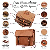 Berliner Bags Umhängetasche York M aus Leder Ledertasche Herren Damen Braun Klein - 5