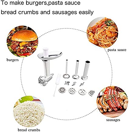 aikeec Accesorio para molinillo de carne para batidora KitchenAid Artisan y Professional Serie Reemplazo