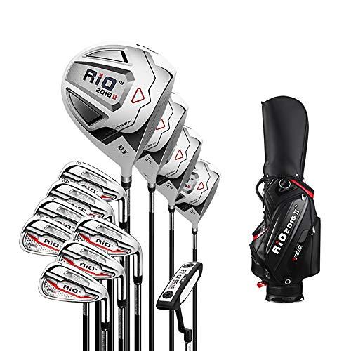 Golfschläger, Golf Herren 12er-Set, Anfänger-Trainingsstöcke Komplettes Set an Ausrüstung mit Standard-Balltasche.
