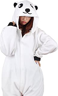 Unisex Animal Polar Bear Costume Pajamas Adult Kids Teen Women Men Plush One Piece Cosplay Sleepwear