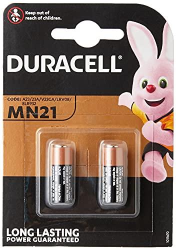 Duracell - 2 Batterie MN21 alcaline A23 23A,12 V