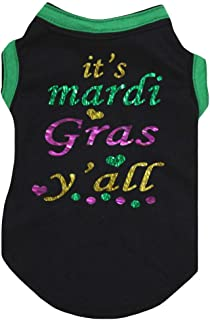 Petitebella Mardi Gras Theme Black Cotton Shirt Puppy Dog Clothes