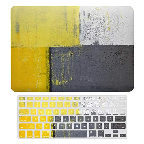 Macbook Air 13 Inch Case(A1369 & A1466, Older Version 2010 2017 Release), Plastic Hard Protective Laptop Case Shell With Keyboard Cover, Abstract Pale Yellow