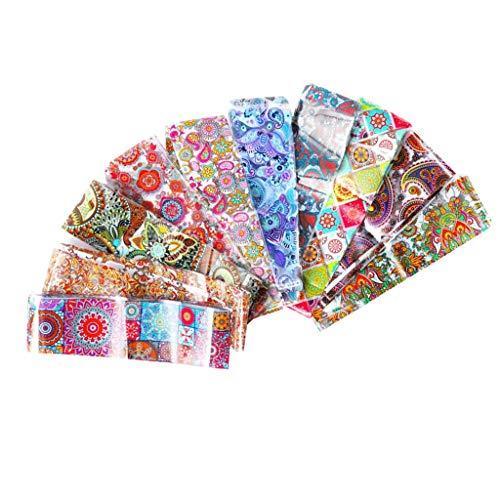 MERIGLARE Nail Art Sticker Top Wrapping Foil Acrylic Nail Decoration