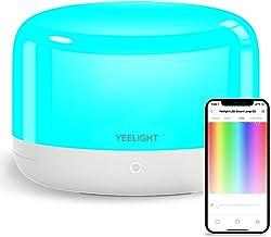 YEELIGHT Abajur de mesa inteligente, luminária de cabeceira com controle de aplicativo com sincronização de música, luminá...