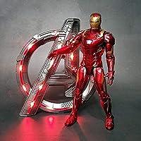 ★ Avengers: Endgame ★ Größe: 18CM ★ Material: PVC-Kunststoff ★ Eigenschaften: Das Gelenk kann sich bewegen; A-förmiger Lichtsockel, rotes Licht ★ Zubehör: beide mit A-förmigem Lichtsockel