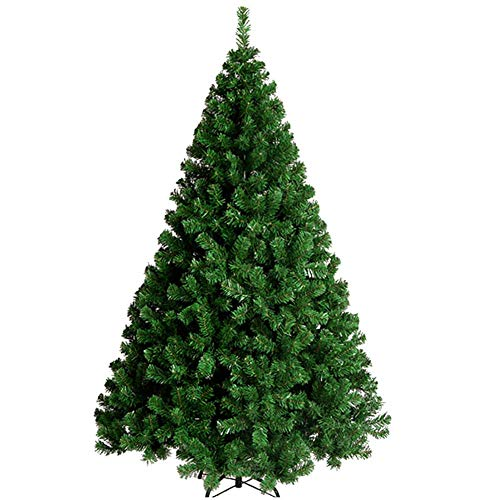IUYJVR Decoration Premium Artificial Christmas Tree,spruce Hinged With Metal Stand Christmas Pine Tree Eco-friendly Natural Alpine-Green 4Ft(120cm)