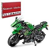 Bybo Motocicleta técnica para Kawasaki Ninja 400, supermoto, modelo de carreras técnicas, 862 bloques de construcción compatibles con Lego Technic