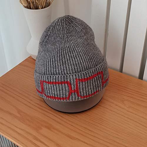 hsy Gorro Beanie Elástico Slouchy Headwear Multi,Estiramiento Ajustado Disfraz de Fiesta con Gorro de Punto de Calavera Sombreros de Invierno para Mujer Gorro de Punto de canalé Caliente de Moda