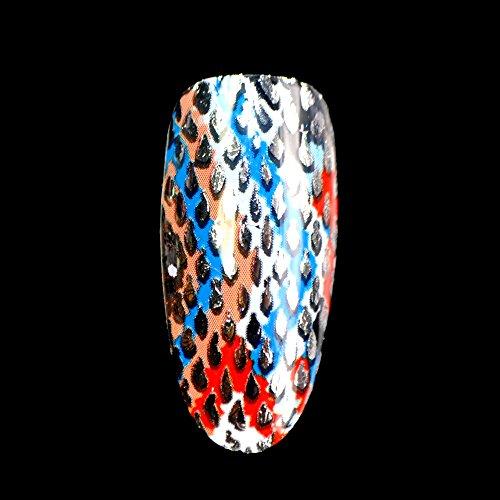 nobranded Faux Ongles Cool Snake Fur Nail Art Foil Clear Base Or Silver Grid Transfer Nail Design Rouleau De Décoration Conçu dans Un Pot Transparent Dur Facile À Utiliser