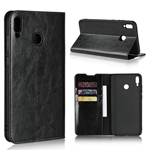 Copmob Funda Huawei Honor 8X MAX,Premium Flip Billetera Funda de Cuero,[Función de Soporte][3 Ranura para Tarjeta][TPU a Prueba de Golpes],Carcasa Huawei Honor 8X MAX - Negro