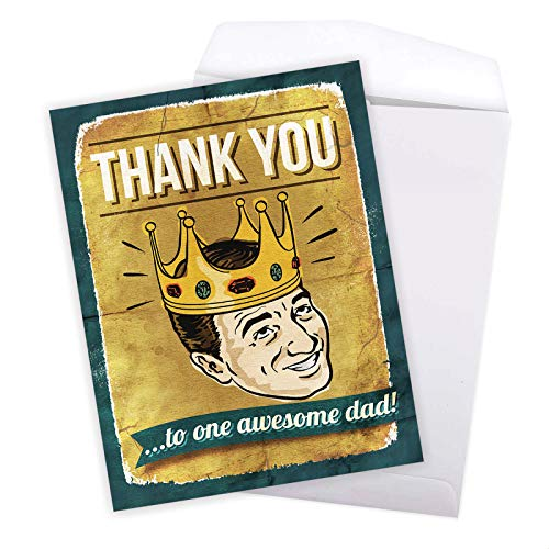 NobleWorks - Jumbo Fathers Day Card Funny (8.5 x 11 Inch) - Hilarious Greeting Notecard for Dads, Grandpa - Awesome Dad J0234 Photo #7