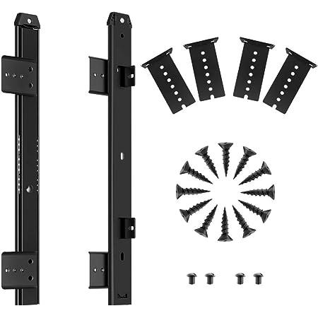 FRMSAET 305/355/405/455 mm Espesor Construcción de acero Teclado Cajón Deslizadores Bandejas Accesorios Gabinete Muebles Rieles de hardware (305 mm, ...