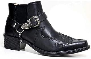 Hommes Western Cowboy Style Chevalier Bottines Mode Chelsea Bottes Vintage en Plein Air Randonnée Grande Taille Bottes Cou...