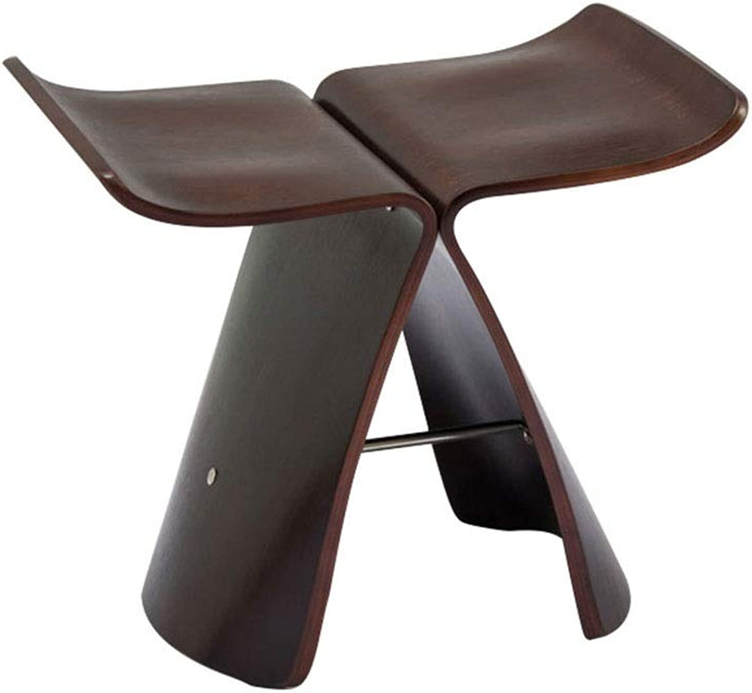 Solid Wood Small Bench Stool Low Stool Living Room Chair Butterfly Stool Wooden Stool Change shoes Bench wear shoes Stool Fashion Simple (color   C)