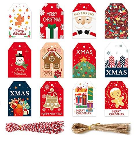 Etiquetas Navidad Regalo Marca Ninevi