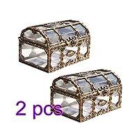 TOYMYTOY 4ピース 透明海賊宝箱 プラスチック クリスタル 宝石 ジュエリーボックス 小物入れ 収納オーガナイザー 小物キープセイク宝箱