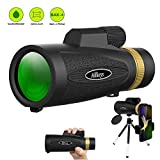 Monocular Telescope [12~16] x50 Wide View High Definition Zoom with Retractable Eyepiece and FMC BAK4 Prism Waterproof Fog Proof with Smartphone Holder & Mini Tripod Match for Hiking Birding and More