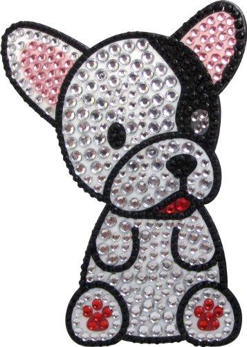 FouFou Dog Love Your Breed Rhinestone Sticker, French Bulldog