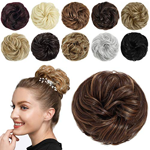 SHEDOWIG Messy Bun Hair Piece Scrunchies Hair Bun Extensions for Women Synthetic Updo Chignon Hairpiece