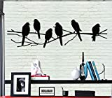 Dekadron Décoration murale en métal–Oiseaux–murale Silhouette Décoration murale en métal Home Office Décoration chambre à coucher salle de séjour Décoration 18'W x 6'H / 46x15cm noir