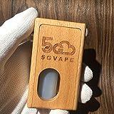 Authentic 5Gvape Supercar BF Squonk 18650 Mechanical Box Mod w/8ml Bottle Walnut (Wood-beech)