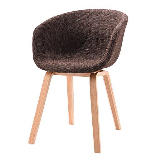 LIU UK Chair Designer Stuhl Sessel Stativ Hochwertiger Bent Wood Panton Designer Stuhl (Farbe : Brown, größe : H75cm)