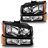 DWVO Headlights Assembly Compatible with 2003 2004 2005 2006 Chevy Silverado...