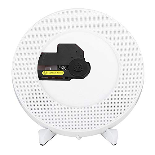 Reproductor de CD, Q100 Reproductor de CD Altavoz de Control Remoto de Audio Bluetooth para Montar en la Pared para CD AUX USB FM, HD para HDMI y combinación Dual 1080P(Enchufe de la UE)