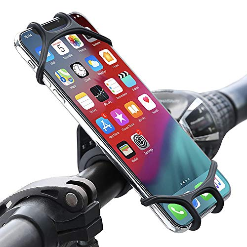 CHENC Telefoonbevestiging, Veelzijdig Waterdicht Telefoonhouder 360° Draai Anti-slip Vier Hoeken Volledig Overdekt voor Fiets Mountainbike Motorbike