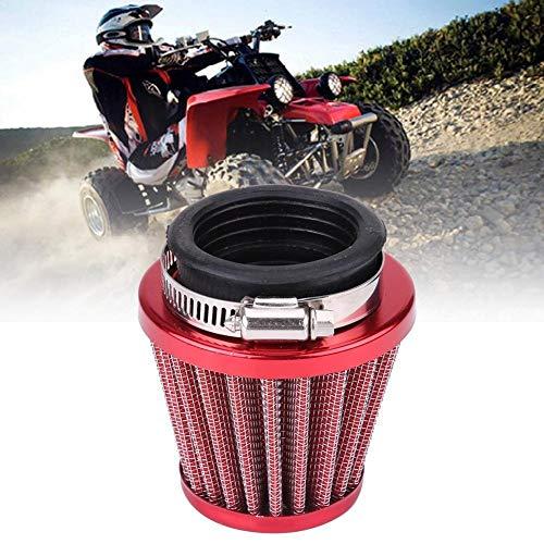 Luchtinlaatfilter-44mm luchtfilter voor Gy6 150cc ATV Quad 4 Wheeler Go-Kart-Buggy Scooter bromfiets (rood)