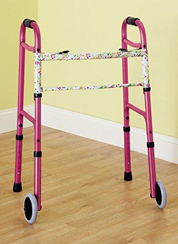 Folding Walker Color: Pink