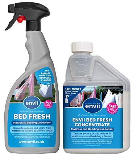 Envii Bed Fresh – Deodorante Spray Per Materassi e Lenzuola, Pulisce e Neutralizza Gli Odori - (Concentrato da 500ml e Bottiglia Spray 750 ml)