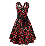 Candow Look Cherry Print 50s Dresses Retro Inspired Rockabilly Pinup Vintage...