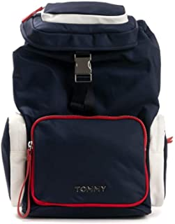 Tommy Hilfiger Nylon Backpack, Blue, AW0AW07695