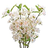 AILANDA 4PCS Silk Cherry Blossom Branches Artificial Long Stem Flowers Pink Faux Cherry Flowers Arrangement for Vase Wedding Home Decor Table Centerpieces