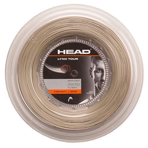 HEAD Unisex-Erwachsene Lynx Tour Reel Tennis-Saite, Champagne, 17