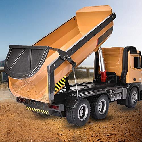 Lahomie - Camión de remolque a control remoto 1:14, juguete de 2,4 GHz inalámbrico a control remoto