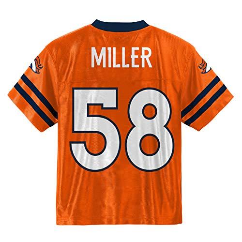 Outerstuff Von Miller Denver Broncos #58 Kinder Trikot, Orange, Jungen, Orange, X-Large 18/20 US