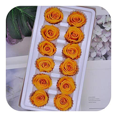 Flores Artificiales de Garland | Preservado Rose Immortal 3 4 CM Diámetro 12pcs DIY Día de la Madre Eterna Boda Regalo Material Flor de la Vida/de la Caja de Nivel B, 17