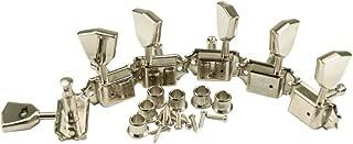 Machine Head - Kluson, Nickel, Metal Keystone Buttons, 3 per side