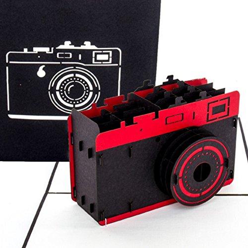 """Pop Up Karte\""""Kamera\"""" – 3D Geburtstagskarte Fotograf, Grußkarte & Glückwunschkarte für Foto Fans als Geschenk, Geschenkverpackung oder Geschenkgutschein für Fotoapparat & Digitalkamera"""