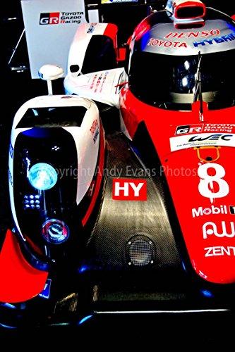 Preisvergleich Produktbild Toyota ts050-hybrid,  einem 30, 5 x 45, 7 cm Fotografien Print Foto von einem Toyota ts050-hybrid auf Show bei die 24 Stunden von Le Mans Endurance Race 2017 Portrait Foto Farbe Bild