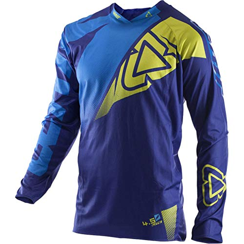 'N/A' Outdoor Downhill Suit-Bicycles, motorcycles, racing cars, jerseys, long-sleeved T-shirts, quick-drying and breathable,Blue,S