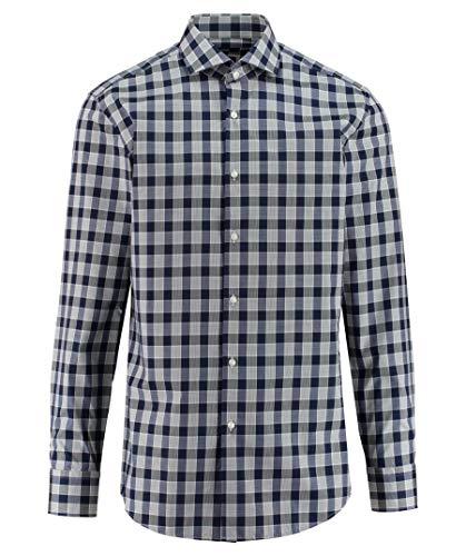 Hugo Boss Herren Hemd Jason Popeline Oberhemd Blau 42