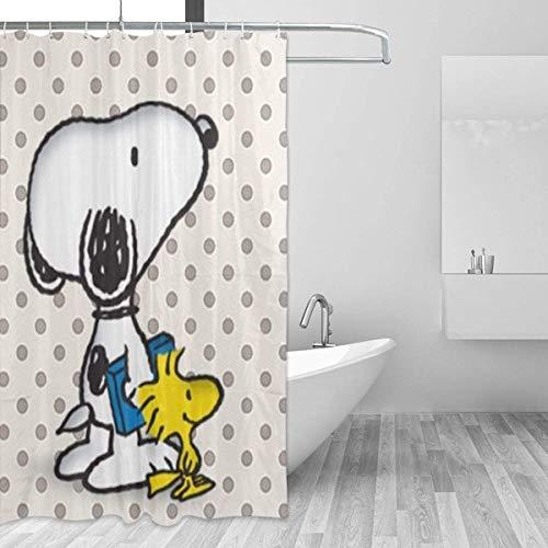 N \ A Snoopy Duschvorhang, 152,4 x 182,9 cm, bedruckt, wasserdicht, für Badezimmer