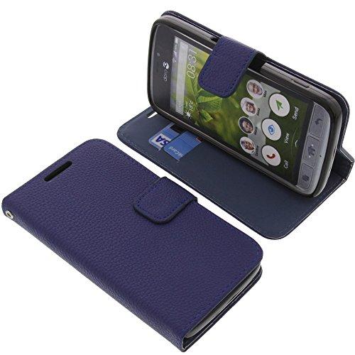 Tasche für Doro 8031 Book Style blau Kreditkarte Schutz Hülle Buch