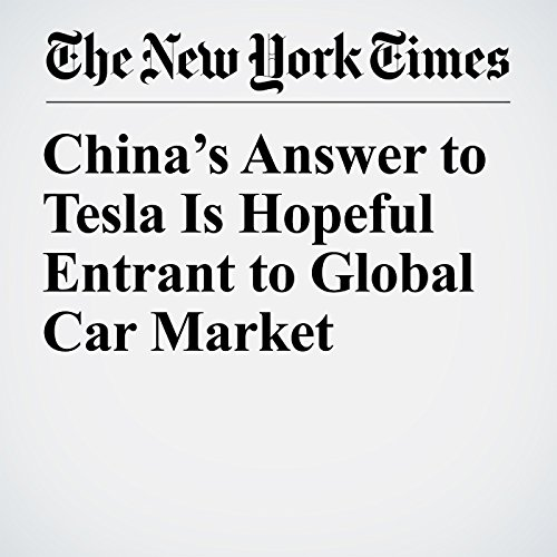 China's Answer to Tesla Is Hopeful Entrant to Global Car Market audiobook cover art