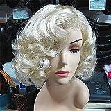 Minicocock Peluca, Oro Europa y los Estados Unidos de Modelo de Pelo Corto y Rizado, Peluca de Marilyn Monroe, Comercio Exterior Original Sola luz Amarilla
